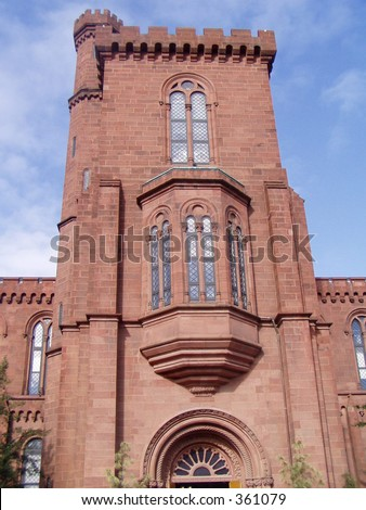 Smithsonian Institute Tower - stock photo