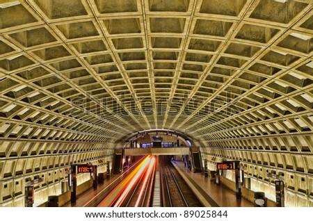 Smithsonian metro station in Washington DC - stock photo