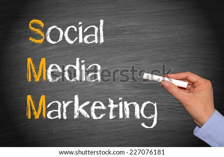 SMM - Social Media Marketing - stock photo