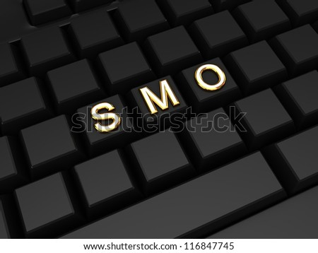 SMO concept.3d rendered. - stock photo