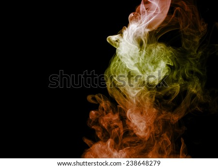 Smoke abstract background,colorful smoke - stock photo