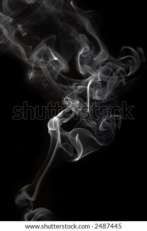 Smoke abstract in black background - stock photo