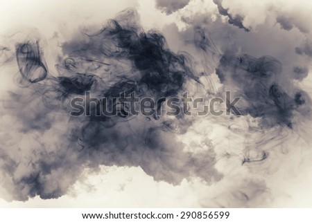 smoke and cloud.Artistic abstraction composed of nebulous - stock photo