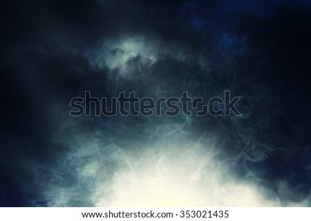 smoke and cloud.Artistic abstraction composed of nebulous, abstract background - stock photo