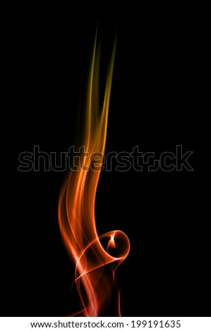 Smoke and flames. - stock photo