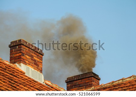 House Chimney Smoke Stock Images, Royalty-Free Images & Vectors ...