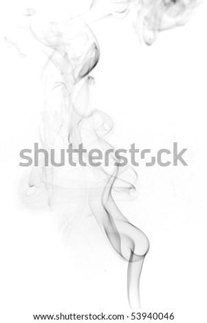 smoke black and white, color smoke, abstract photo - stock photo