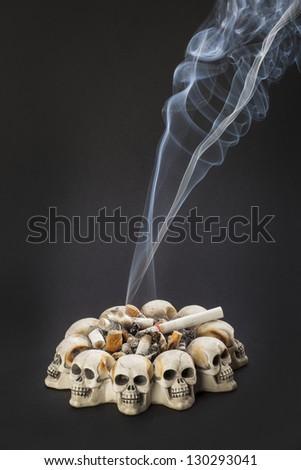 smoke cigarette - stock photo