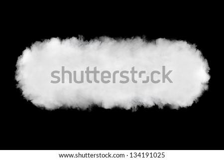 smoke cloud backdrop, isolated on black - stock photo