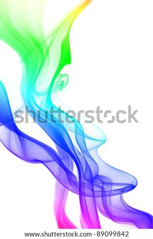 smoke color - stock photo