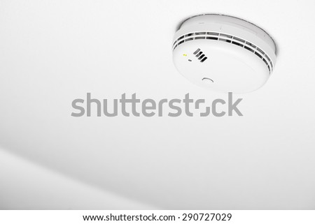 smoke detector of fire alarm, white background