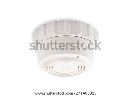 Smoke detector on a white background  - stock photo