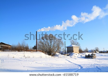 smoke from pipe - stock photo