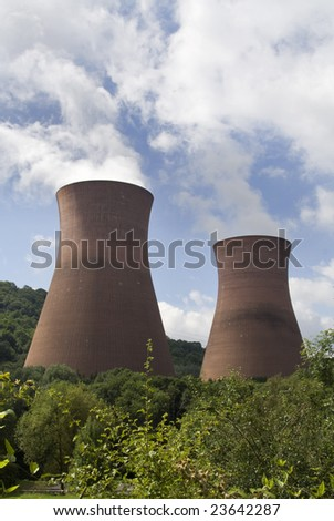 Smoke from power station - stock photo