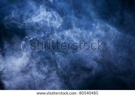 Smoke illuminated beam of light. Can be used as background - stock photo