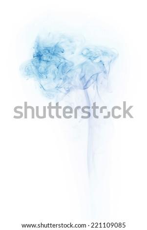 smoke isolated on white background - stock photo