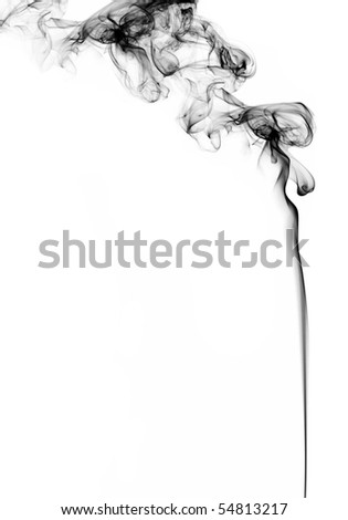 smoke on white background, studio shot - stock photo