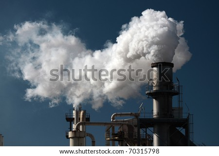smoke pipe 4 - stock photo
