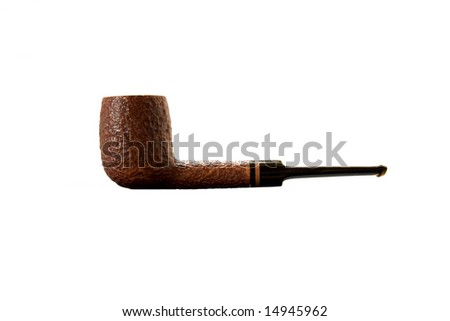 Smoke pipe isolated against white background.