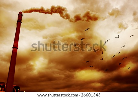 Smoke Pollution - stock photo