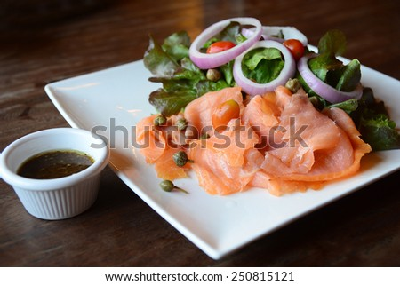 Smoke Salmon  - stock photo