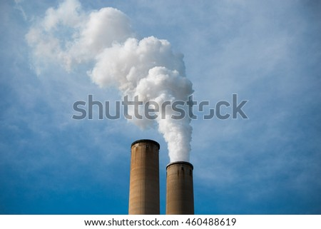Smoke stack - stock photo