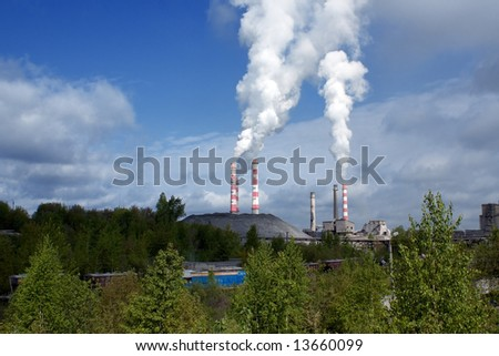smoke-stack polluting the air