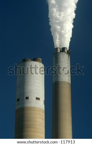Smoke Stacks - stock photo