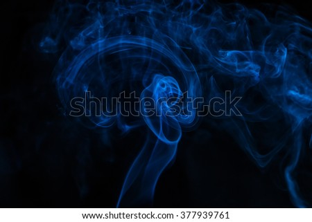Smoke tangle on black background