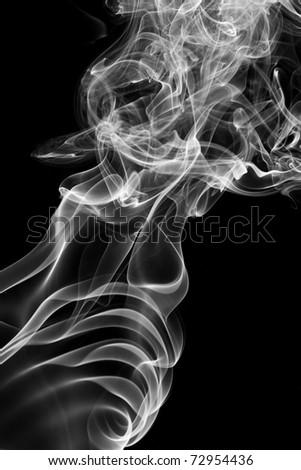 Smoke wave - stock photo