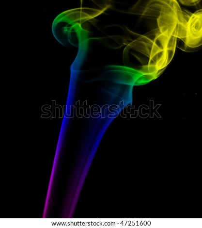 Smoke with mutable colors - stock photo