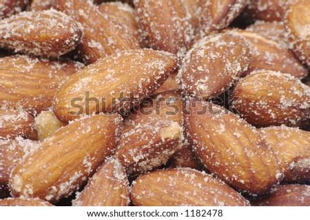 Smoked Almond Background - stock photo