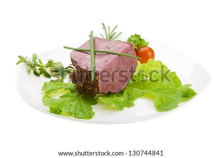 Smoked beef - stock photo