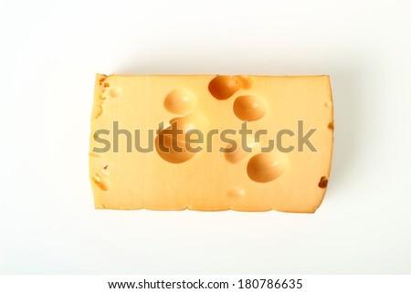 Smoked cheese. Radamer Polish Cheese. - stock photo