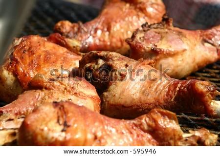 Smoked Chicken - stock photo