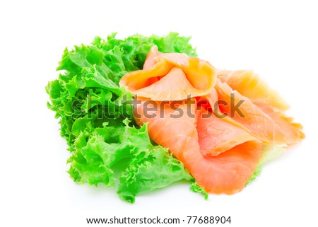 Smoked fish and fresh lettuce