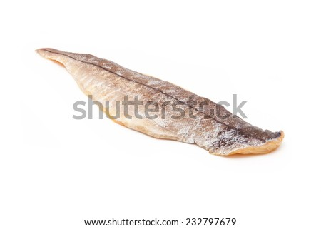 Smoked Haddock isolated on a white studio background. - stock photo