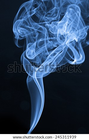 Smoked image - stock photo