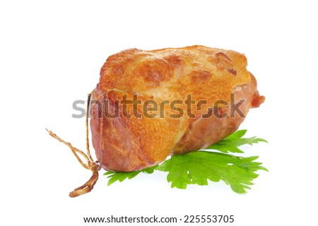 Smoked meat isolated on a white background