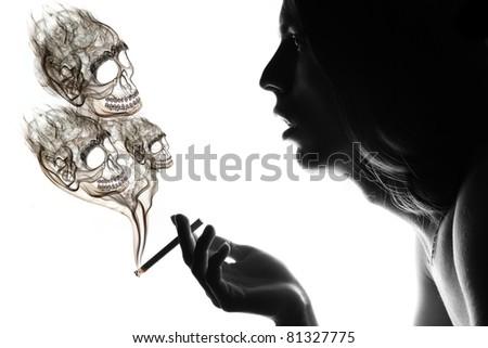 Smoker facing health problems. - stock photo