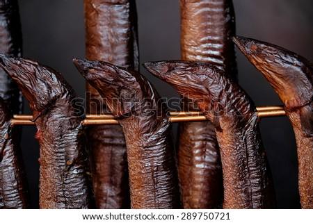 Smokes eels - stock photo
