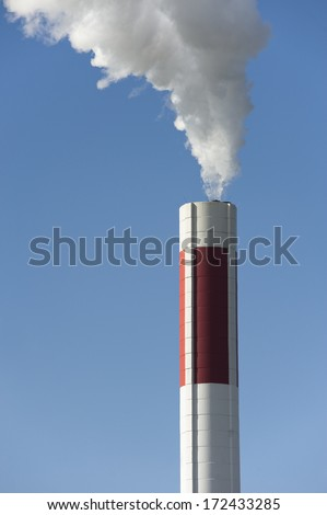 Smokestack - stock photo