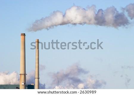 Smokestack - stock photo
