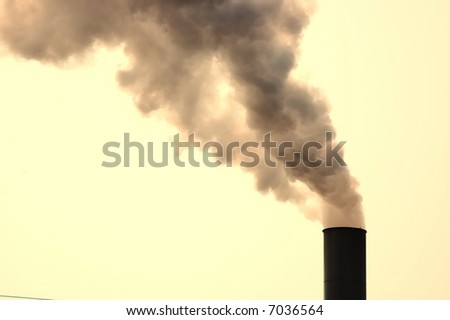 Smokestack belching out smoke