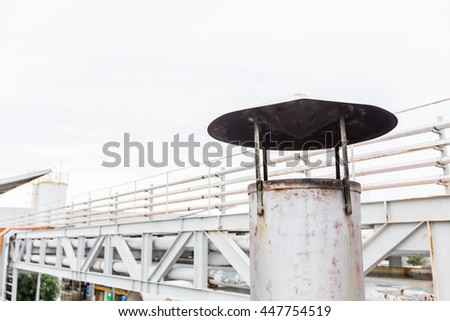 Smokestack or Exhaust of Air conditioner factory. - stock photo