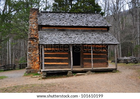 Smokey Mountains Cades Cove - Old House - stock photo
