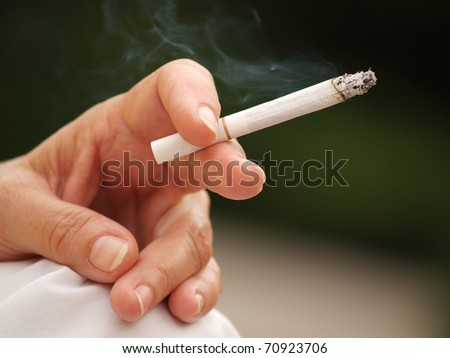 Smoking - stock photo
