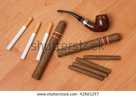 smoking accessories - stock photo