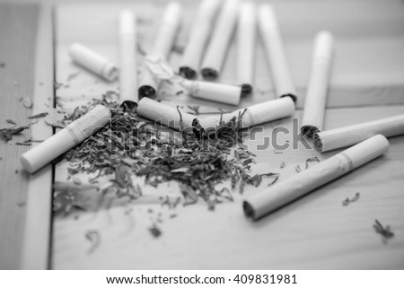 smoking break - stock photo