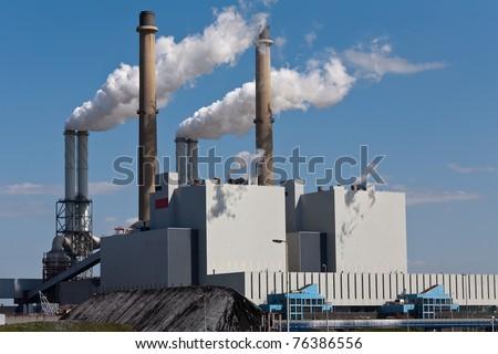 Smoking Chimneys - stock photo